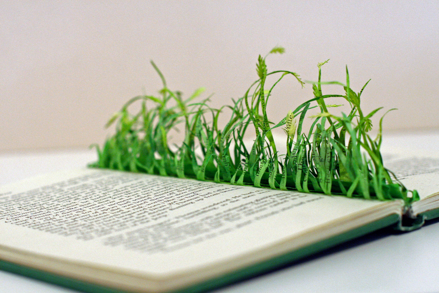 Grass Book Sculpture-A Country Girl